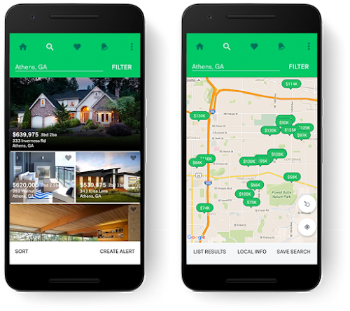 Interactive map on Trulia